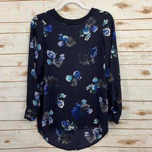 Thakoon For Design Floral  Silky Sheer Blouse XS
